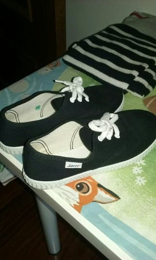 Nuevas zapatillas negras karate gymnasia