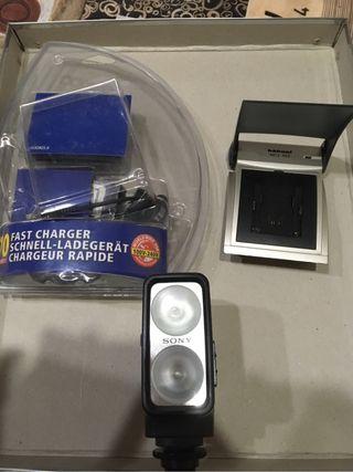 Foco Sony para cámara de video con batería