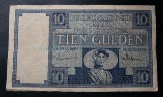 Billete . Holanda . 10 gulden . 1929 RW . Pick 43b