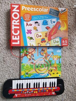Lote juegos y piano