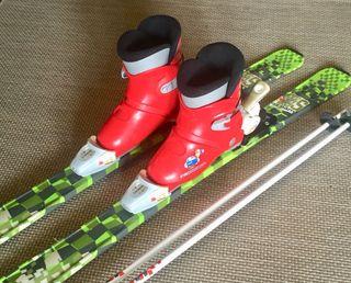Equipo de esquiar infantil