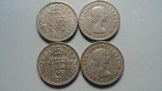 Monedas Chelín Inglés