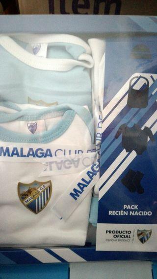 Pack recien nacido del Malaga CF