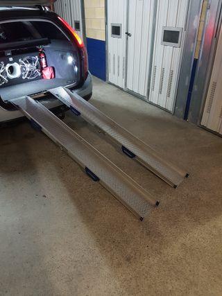 Rampas de aluminio para silla de ruedas