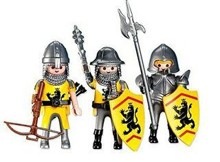 PLAYMOBIL nuevo 7535 - 3 Caballeros del León