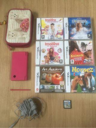 Nintendo DS + 7 juegos y complementos