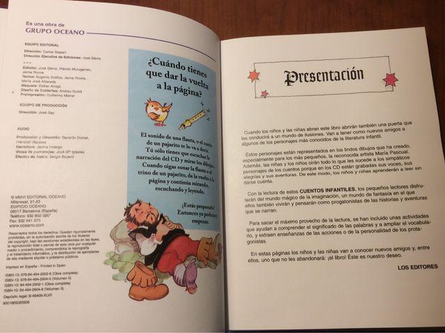 a24d95e704 CUENTOS INFANTILES CON 2CD EDITORIAL OCÉANO de segunda mano por 8 ...