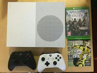 Xbox one S500gb+2 mandos+2juegos