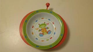 Plato infantil que mantiene caliente la comida