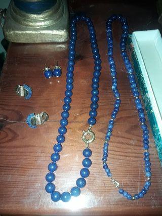 collares y pendientes lapislázuli