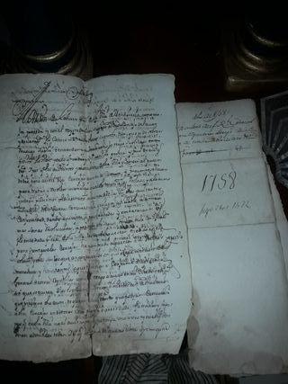 manuscritos antiguos siglo XVIII.
