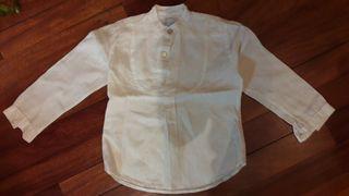 Camisa blanca lino niño
