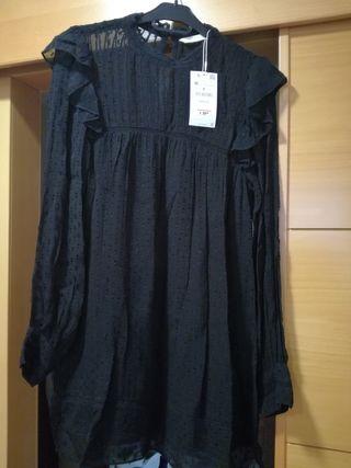 Plumeti Mano De Trf Segunda Vestido Collection Nuevo Zara ASRc354Lqj