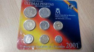 cartera fnmt pesetas 2001