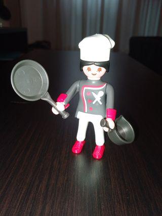 Playmobil Figures Serie 4 Cocinera