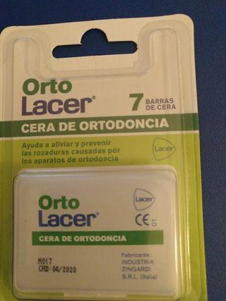 Cera de Ortodoncia Lacer, 5 envases de 7 barras