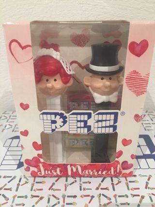 Dispensador caramelos PEZ. Just Married.