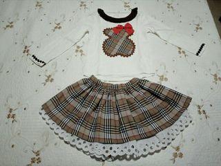 Conjunto artesanal niña talla 6-7 años