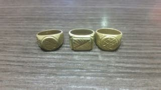 anillos imitacion oro