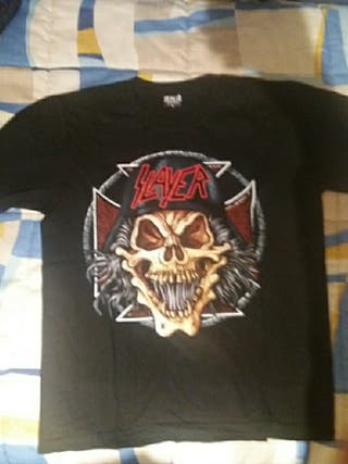 camiseta del grupo slayer