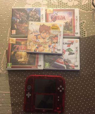 Consola nintendo 3ds + 2 juegos zeldas y Mario no