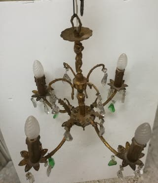 Lámpara araña con cristales