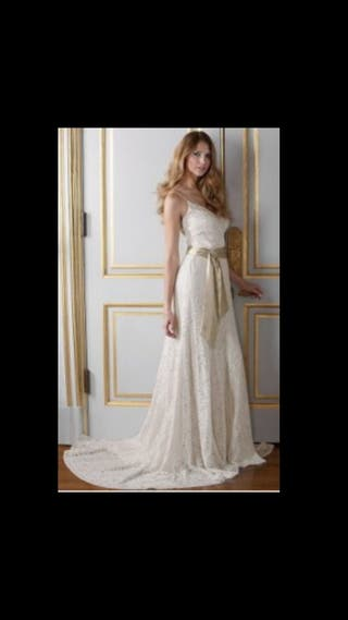 vestido de novia talla 36 de segunda mano en barcelona en wallapop