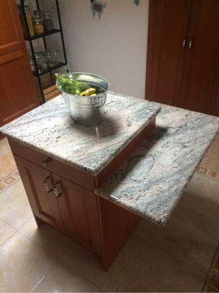 Isla de cocina de granito