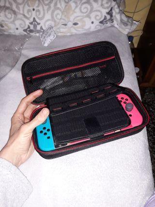 funda nintendo switch maletín tapa dura