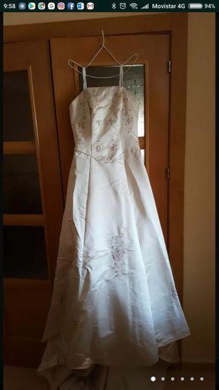 vestido de novia largos de segunda mano en málaga en wallapop