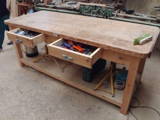 Mesa de trabajo taller o cocina en logro o en wallapop - Mesas de taller ...