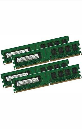 8GB NUEVAS (2gbx4 uds) RAM DDR2 PC2-6400U SAMSUNG