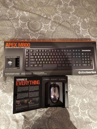 teclado mecanico gaming + raton gaming steelseries