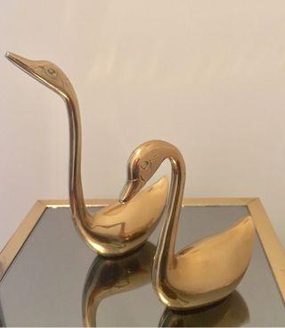 Cisnes-Figuras de Bronce