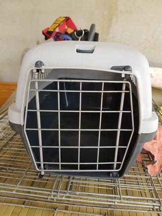 transportín viaje gato o perro mini