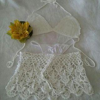 Bikini crochet 3 piezas.