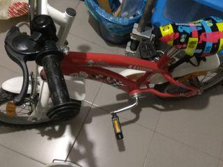 Bicicleta niño cars