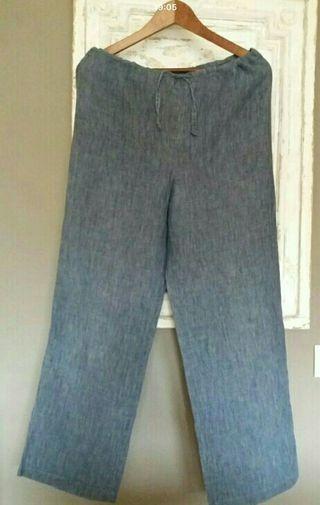 Pantalones lino 100%