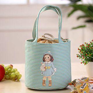 Bolsa bolso térmico para comida bebida azul