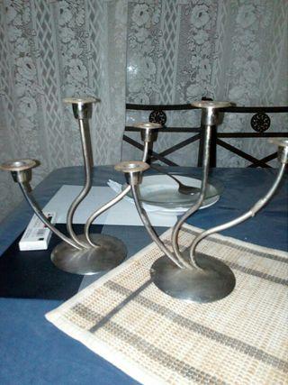 candelabros de plata antiguos