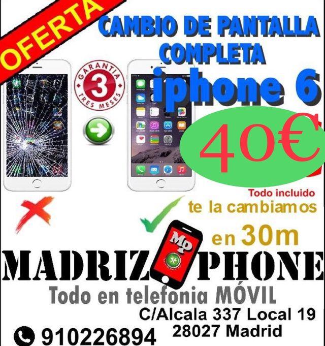 8b9e74f64dd Cambiar Pantalla iphone 6 de segunda mano por 40 € en Madrid en WALLAPOP