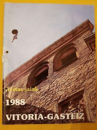 Programa de fiestas de Vitoria 1988