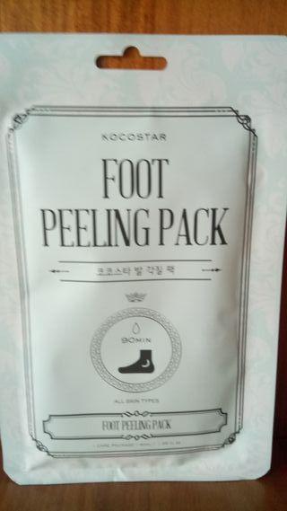 Exfoliante peeling para pies