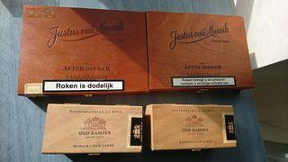 lote de cajas de puros vacías