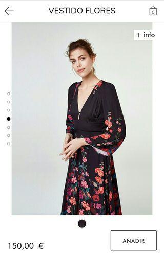 Vestido largo uterqüe