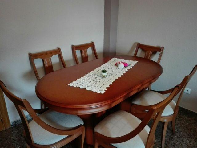 Vendo mesa y sillas comedor de segunda mano por 700 € en Valencia en ...