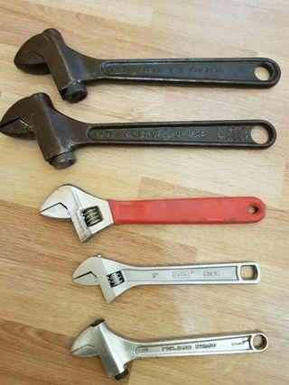 lote de 4 llaves inglesas