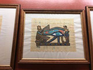 Pack de 3 cuadros faraones egipcios