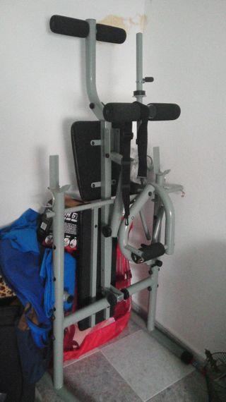 banco de gimnasio para pecho, espalda, piernas...