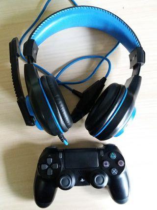 pack ps4. mando y cascos gaming